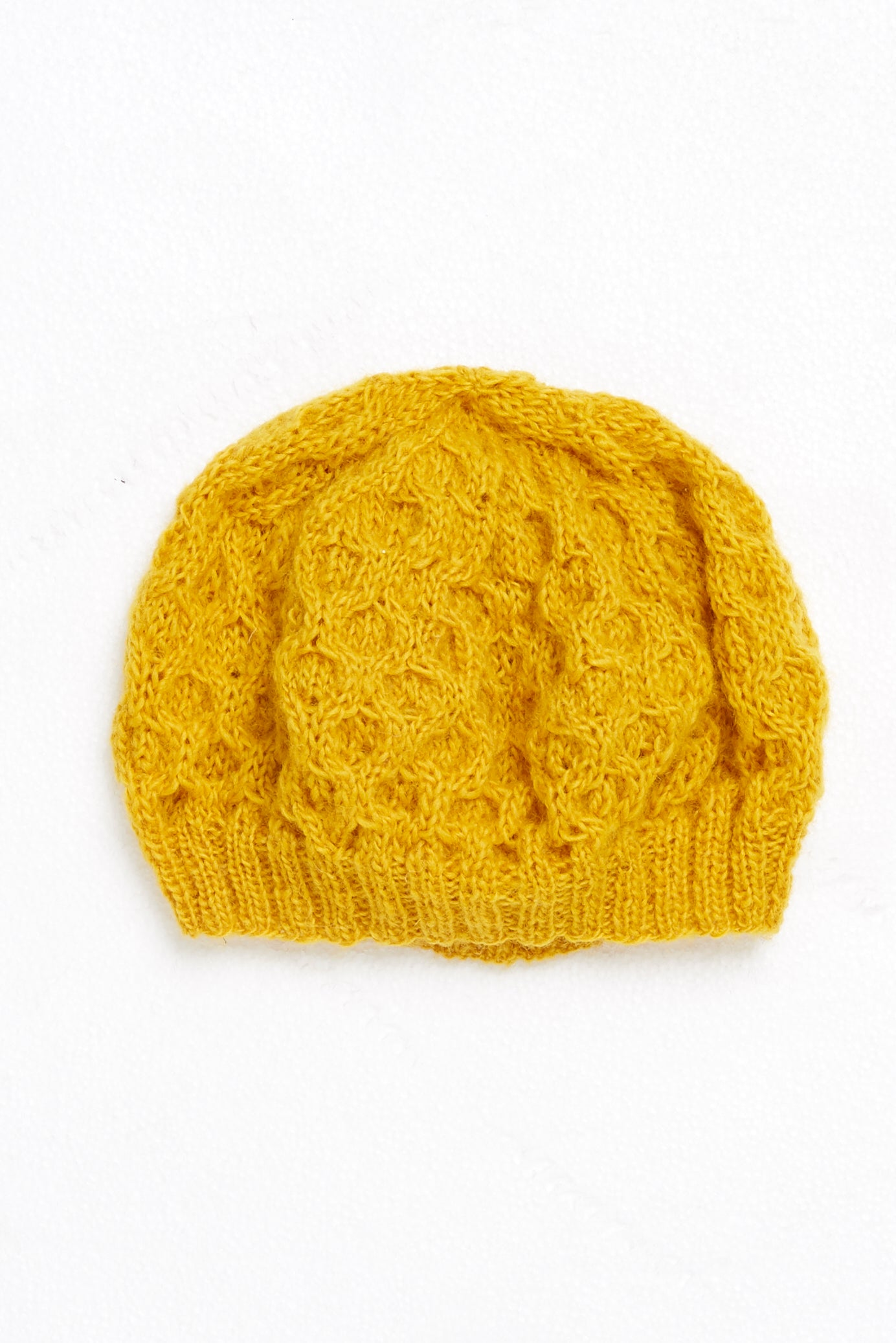 Honeycomb Beret-Hat-Sancho's Dress