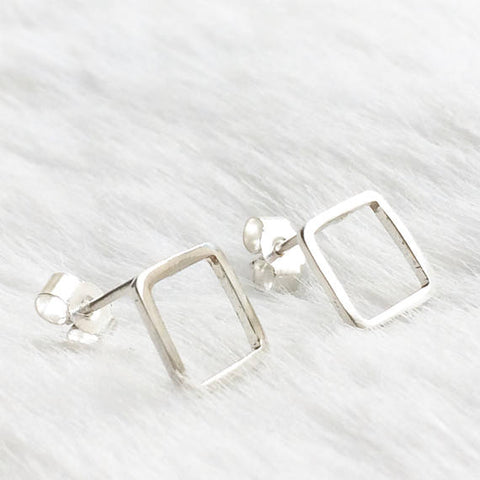 Juna - Square Stud-Earrings-Sancho's Dress