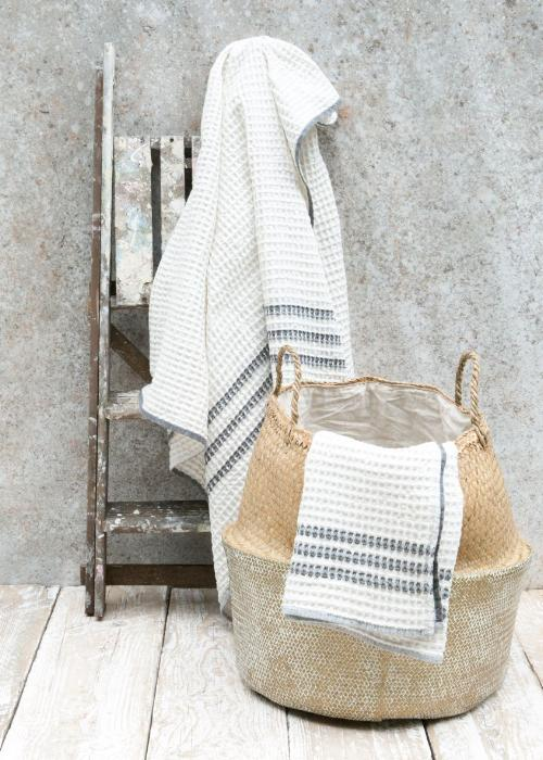 Imani Waffle Bath Towel in Charcoal-Homeware-Sancho's Dress