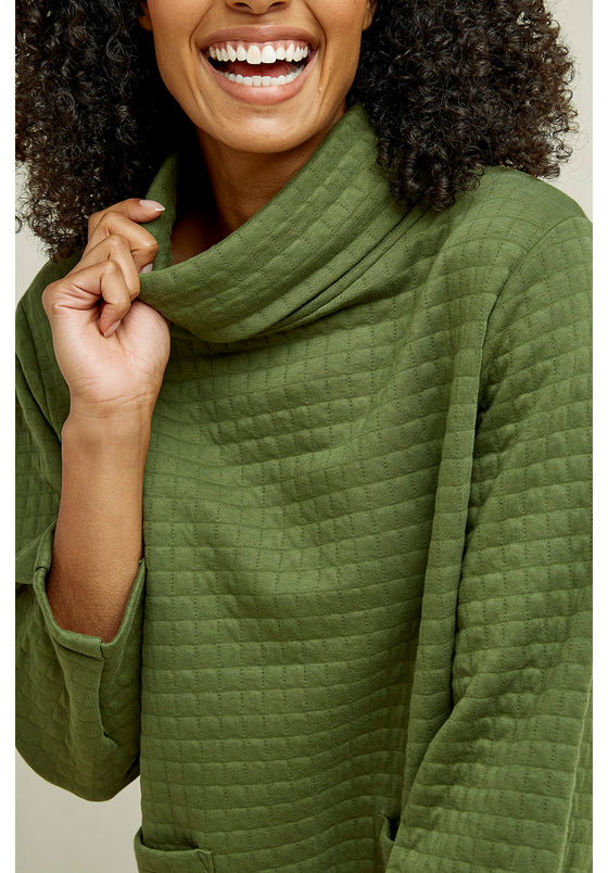 Jane Quilted Top in Khaki