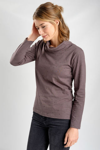 Sabrina Polo Neck Tee in Grey-Top-Sancho's Dress