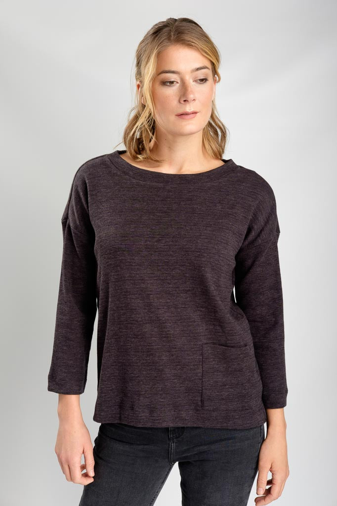 Lola Classic Boxy Tee in Grey Marle-Top-Sancho's Dress