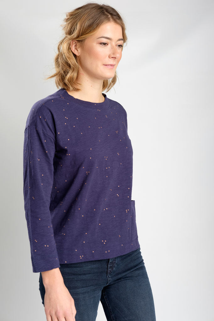 Lola Classic Boxy Tee in Navy-Top-Sancho's Dress