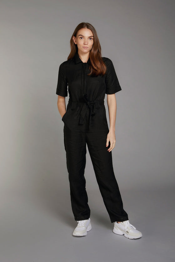 Trapeze Jumpsuit in Coal (transparent pricing)
