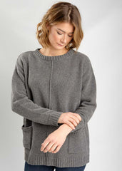 Erika Oversized Jumper in Grey-Knitwear-Sancho's Dress