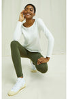 Organic Cotton Khaki Leggings from People Tree