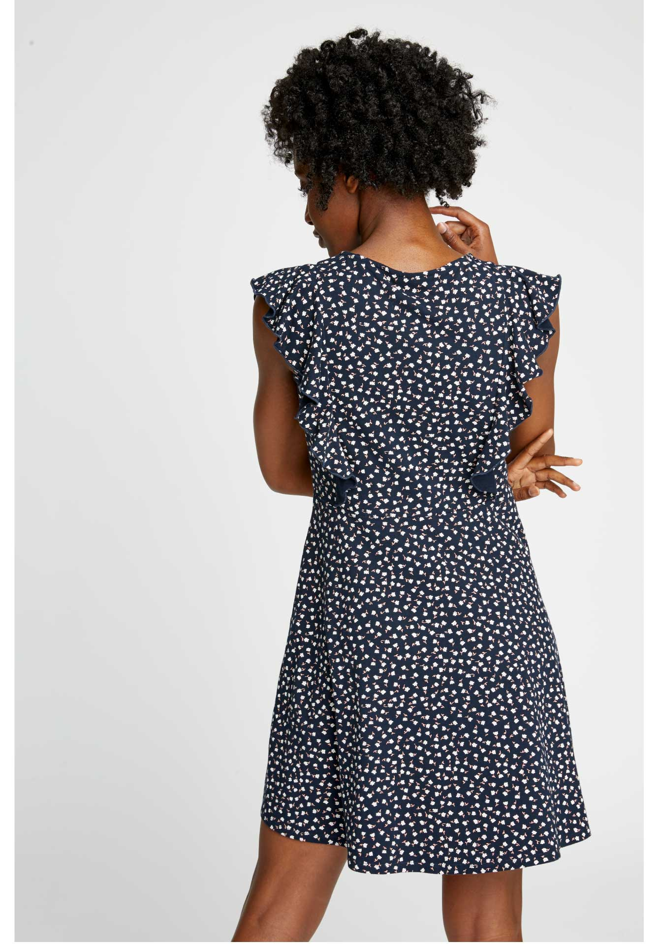 Lulu Floral Dress - Navy-Dress-Sancho's Dress