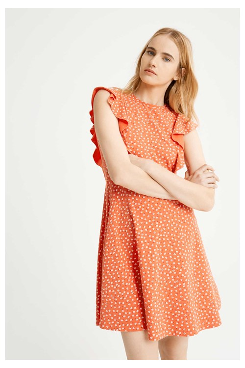 floral organic cotton dress