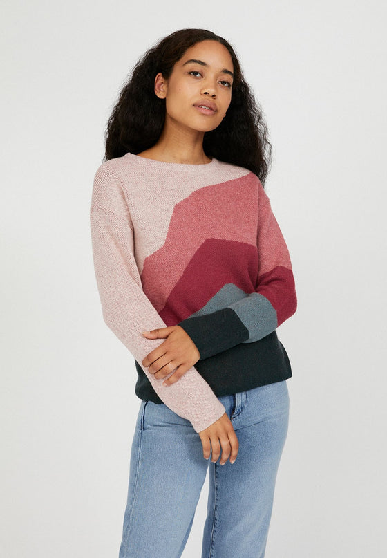 Ethical and Sustainable Multi Coloured Organic Cotton and Organic Wool Jumper from Black-owned Sancho's in Exeter, England