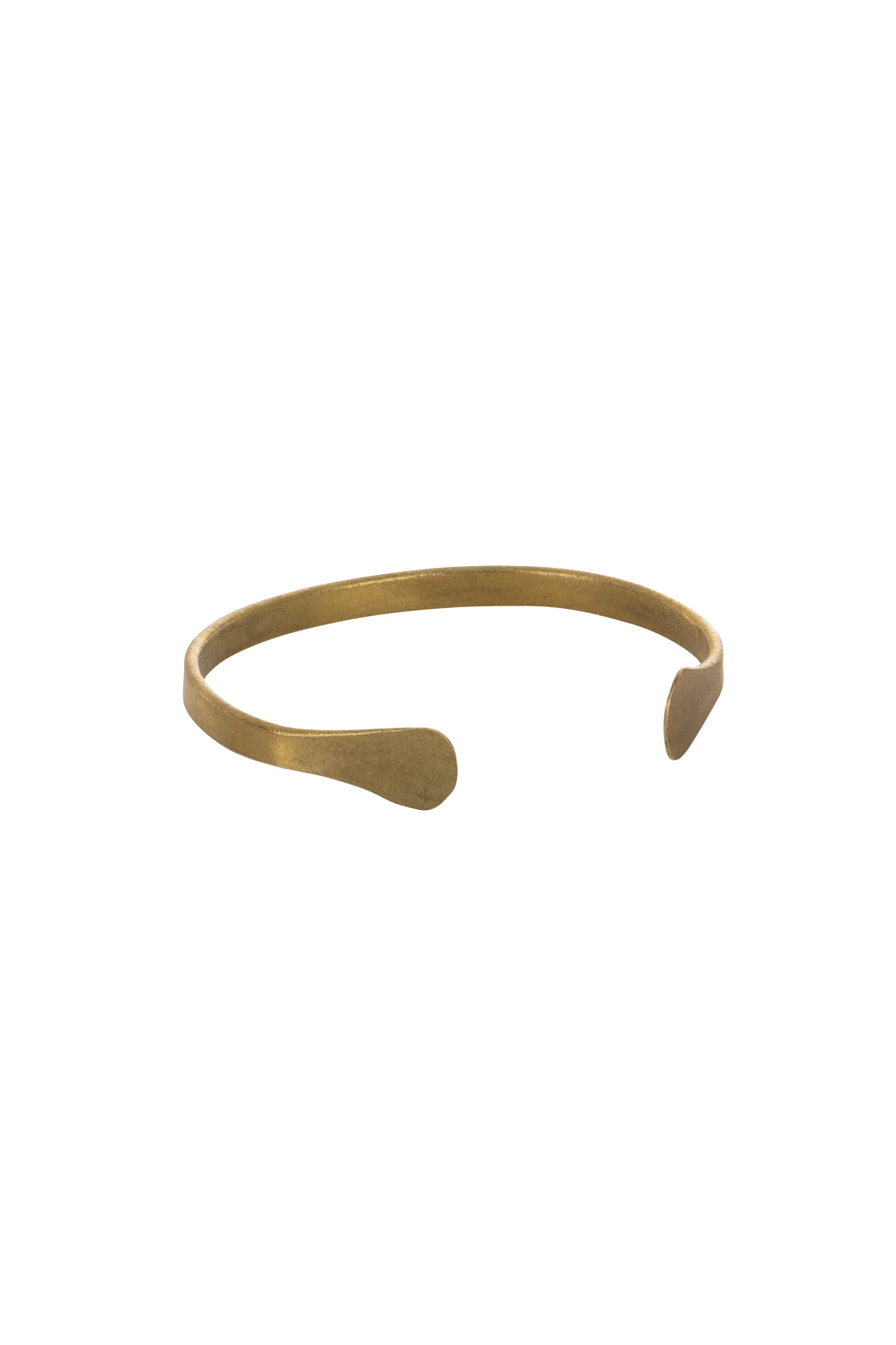 Narrow Cuff in Brass-Bracelet-Sancho's Dress