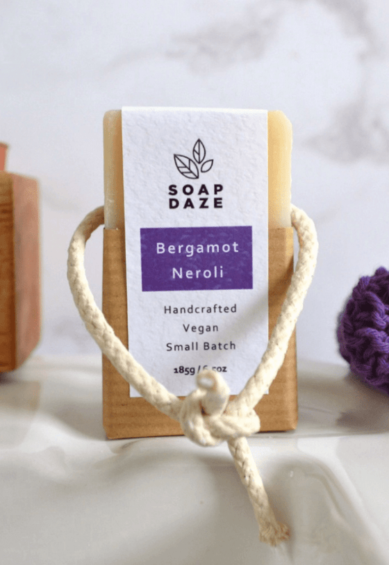 Natural & Vegan Bergamot & Neroli Soap On A Rope from Soap Daze