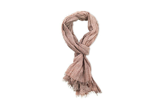 Ethically Made Pya Cotton Scarf in Washed Dusky Pink from Nkuku