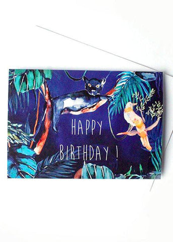 Nocturnal Jungle Birthday Card-Cards-Sancho's Dress