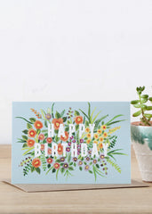 Birthday Flowers Card-Cards-Sancho's Dress
