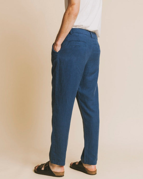 Marcelino Hemp Pant in Blue