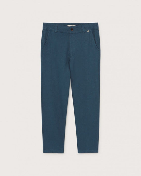 Organic Marcelino Hemp Pant in Blue from Thinking MU