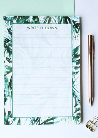 Paradise Palms Notepad-Notebook-Sancho's Dress