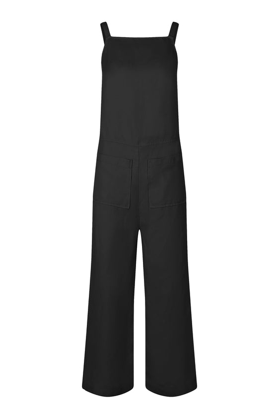 Organic Linen Tya Jumpsuit in Coal from Komodo