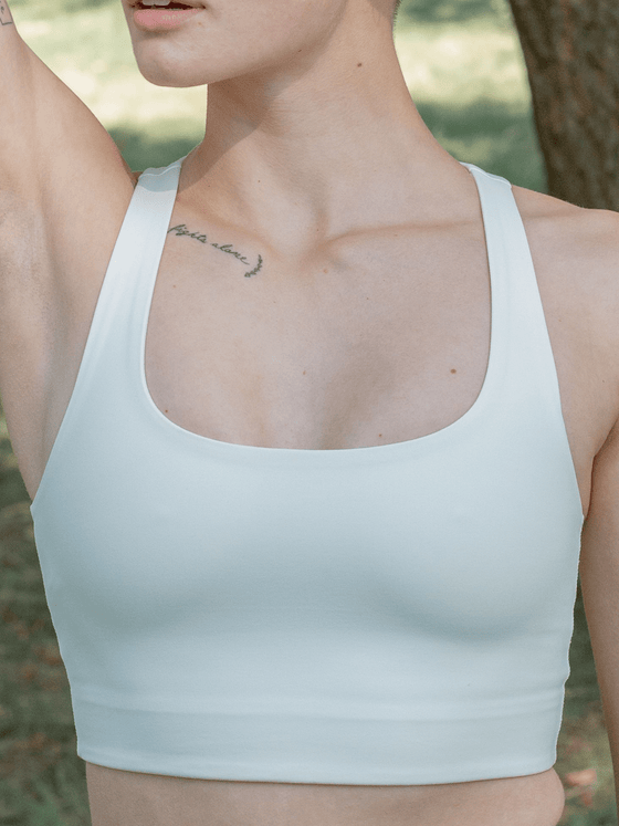 Recycled PET Paloma Sports Bra in Ivory Off White from Girlfriend Collective
