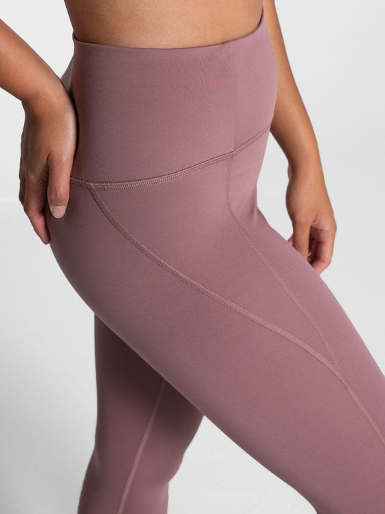 Girlfriend Compressive High Rise Leggings in Rose Quartz