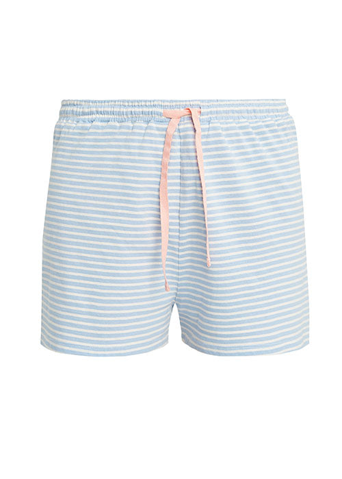 Stripe Pyjama Shorts in Blue-Nightwear-Sancho's Dress