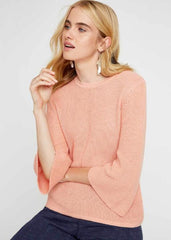 Sinead Rib Jumper - Pink-Women top-Sancho's Dress