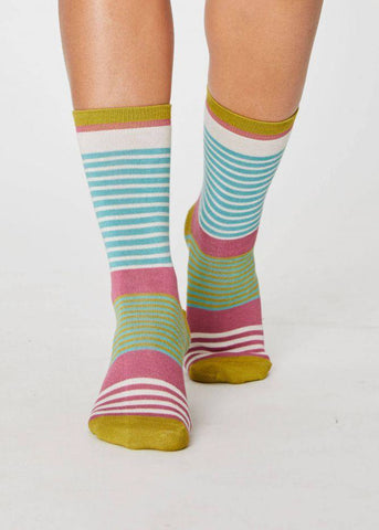 Vevina Socks - Field Green-Socks-Sancho's Dress
