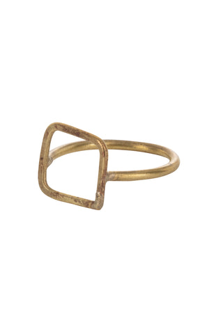 Square Ring - Brass-Ring-Sancho's Dress
