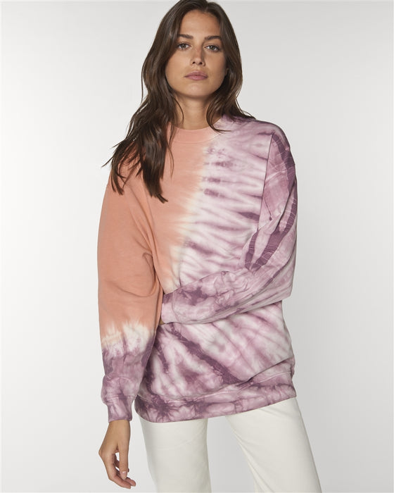 Affordable Natural Organic Cotton Sweatshirt in Tie Dye from Female-led Sancho's in Exeter, UK