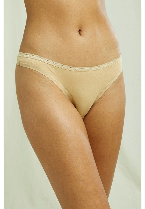 Organic Thong in Beige