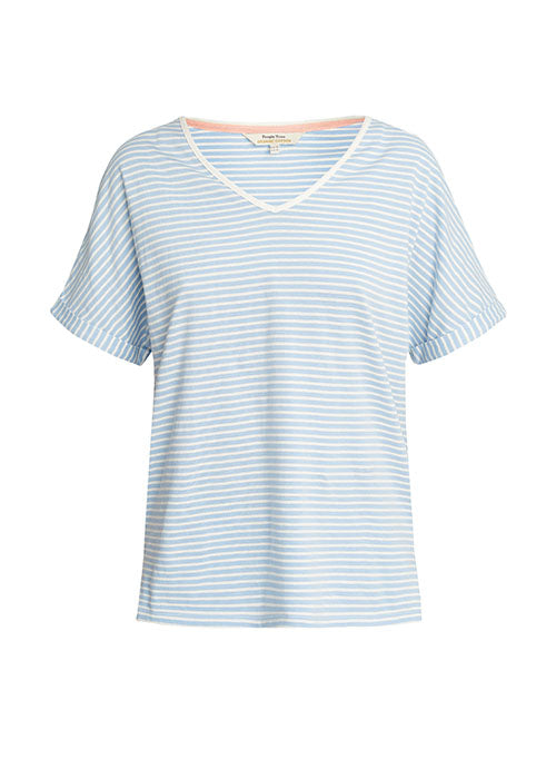 Stripe Pyjama Top in Blue-Nightwear-Sancho's Dress