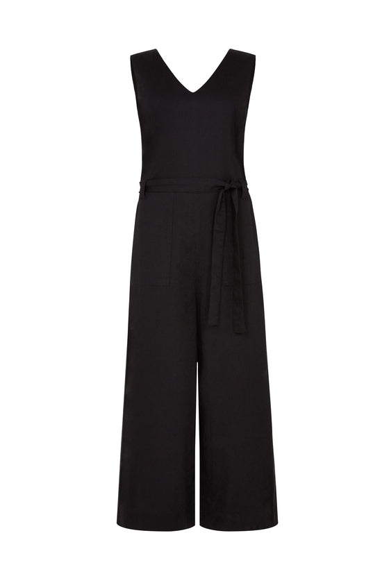 Vesta Jumpsuit in Black
