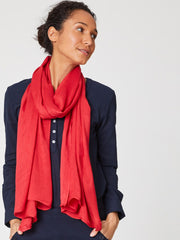 Owen Scarf in Poppy Red-Scarf-Sancho's Dress