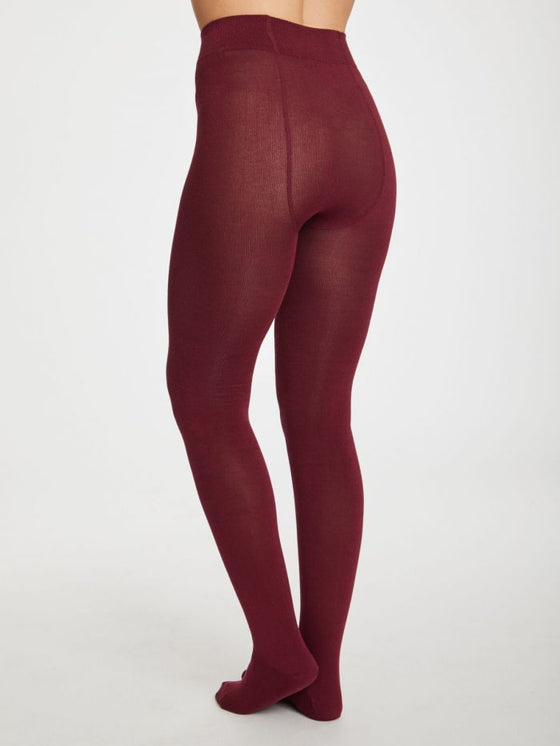 Elgin Tights in Bilberry Red