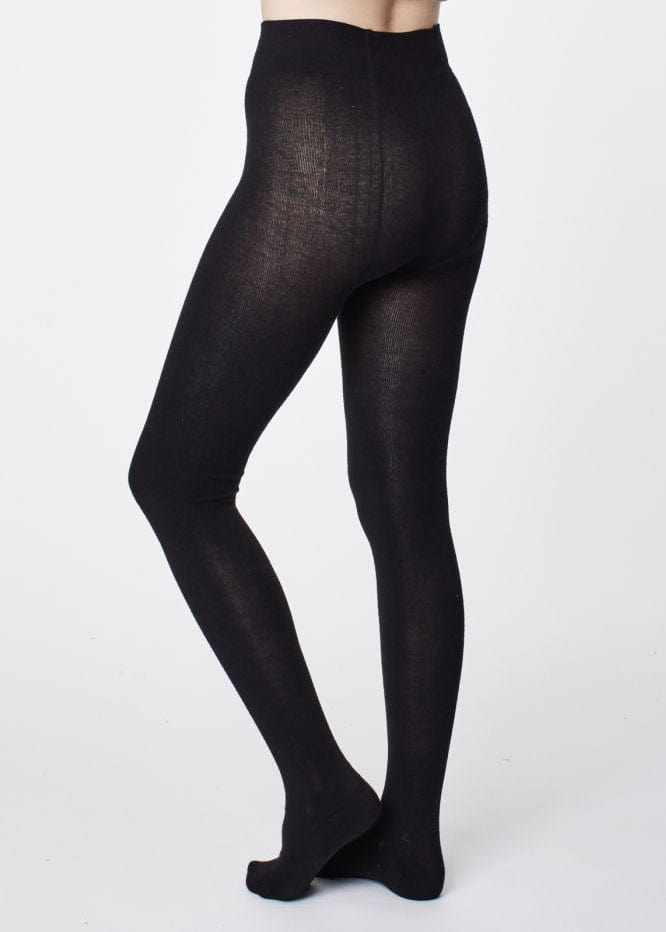 Elgin Super Soft Bamboo Tights - Black-Socks-Sancho's Dress