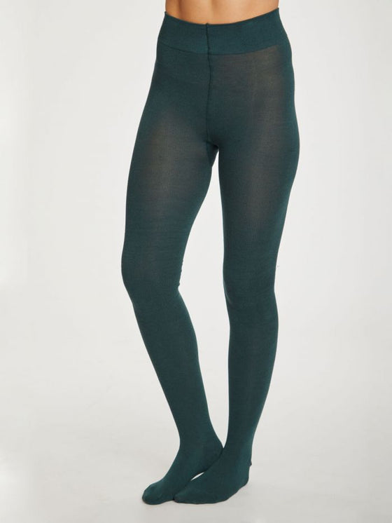Elgin Tights in Deep Teal Green