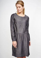 Eseme Collarless Dress-Dress-Sancho's Dress