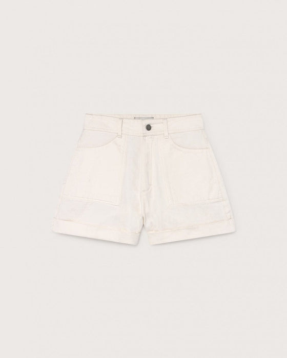 Organic Cotton Logome Shorts in White from Thinking MU