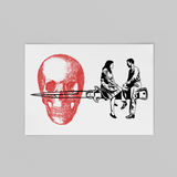 Couple on Knife Art Print