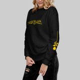 Noir Golden Leopard Unisex Fleece Sweatshirt