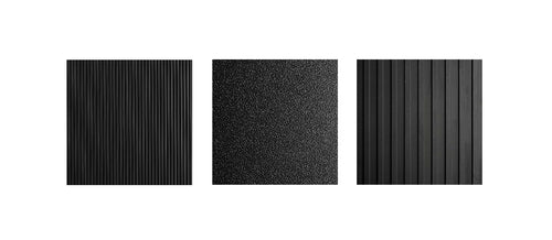 Rubber runner matting types include corrugated, wide-rib top, and ripple texture