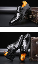 Load image into Gallery viewer, Crocodile Dress Loafers