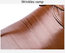 Load image into Gallery viewer, Leather Wingtip Carved Italian