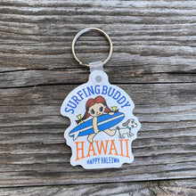 Load image into Gallery viewer, Happy Haleiwa Shape Keychain