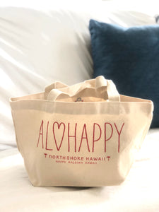 Mini Canvas Tote- AloHappy