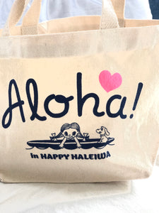 Mini Canvas Tote- Aloha Heart