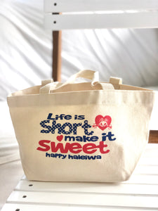Mini Canvas Tote- Life Is Short