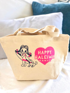 Mini Canvas Tote- Happening Haleiwa