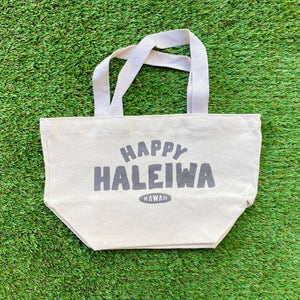 Mini Canvas Tote - Happy Haleiwa