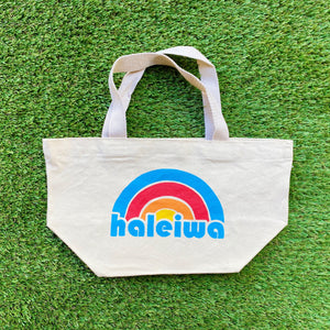 Mini Canvas Tote - Rainbow Haleiwa